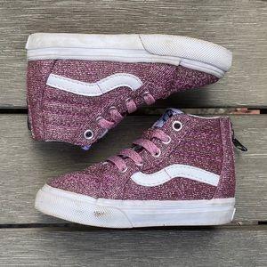 Vans Lurex Pink Glitter SK8 Hi Zip